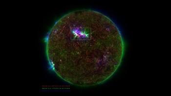 Fontener av gass på sola