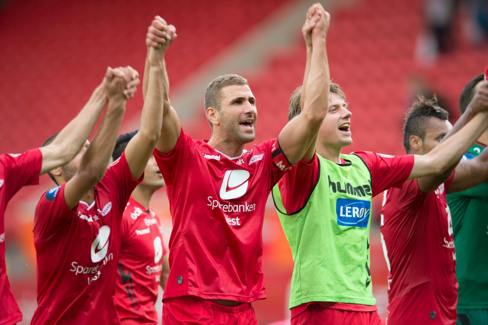 Superreserven Azar Karadas scoret to mål da Brann slo Aalesund 6-0 i juli 2016.