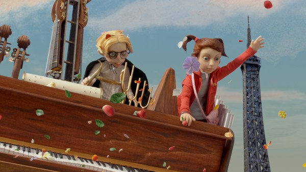 Polsk animasjonsfilm. Anna og Chip oppdager et gammelt piano i bakgården. Pianoet forvandles plutselig til en magisk flyvende maskin. Barna bruker flyvemaskinen til å fly over Europa for å finne Annas far.