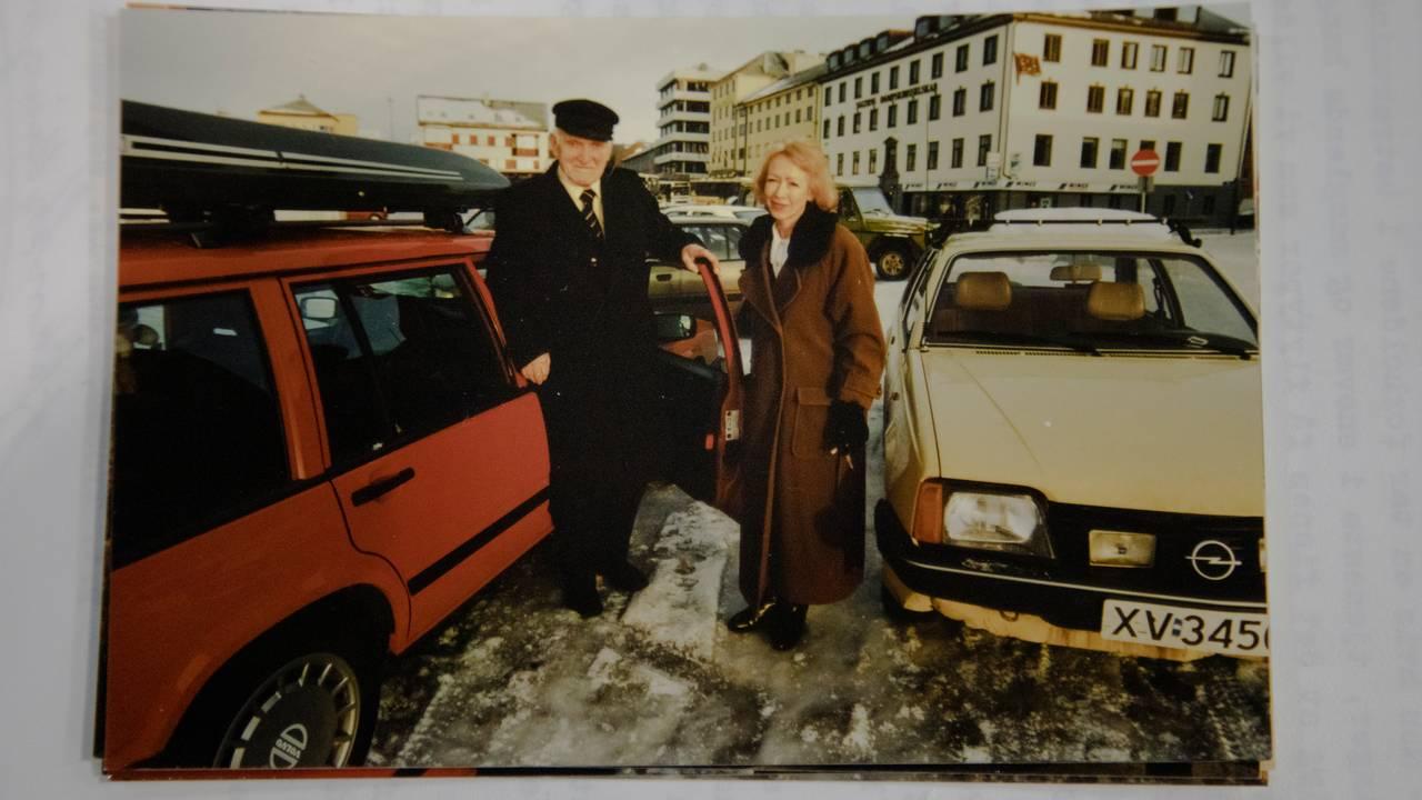 Håkon Kyllingmark og Inger Rapp da han besøkte Bodø.