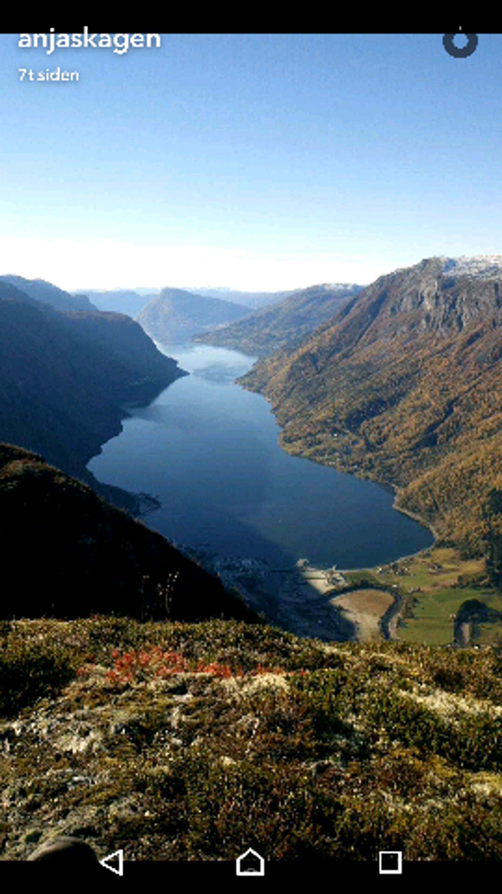 Bolstadnosi, utsikt til Molden og Lustrafjorden. Mange fine haustfargar og ein kjempefin tur å gå.