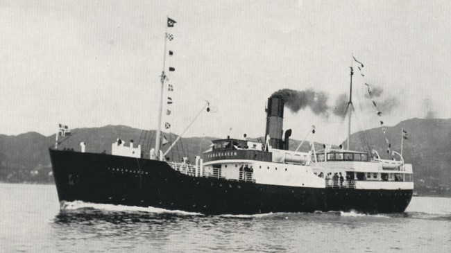 DS Fanaraaken var det siste dampskipet til Fylkesbaatane. Eigar av foto: Fjord1.