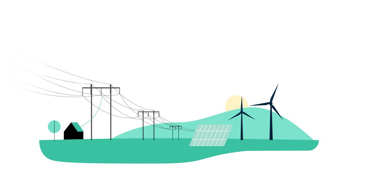 Illustrasjon av ren energi