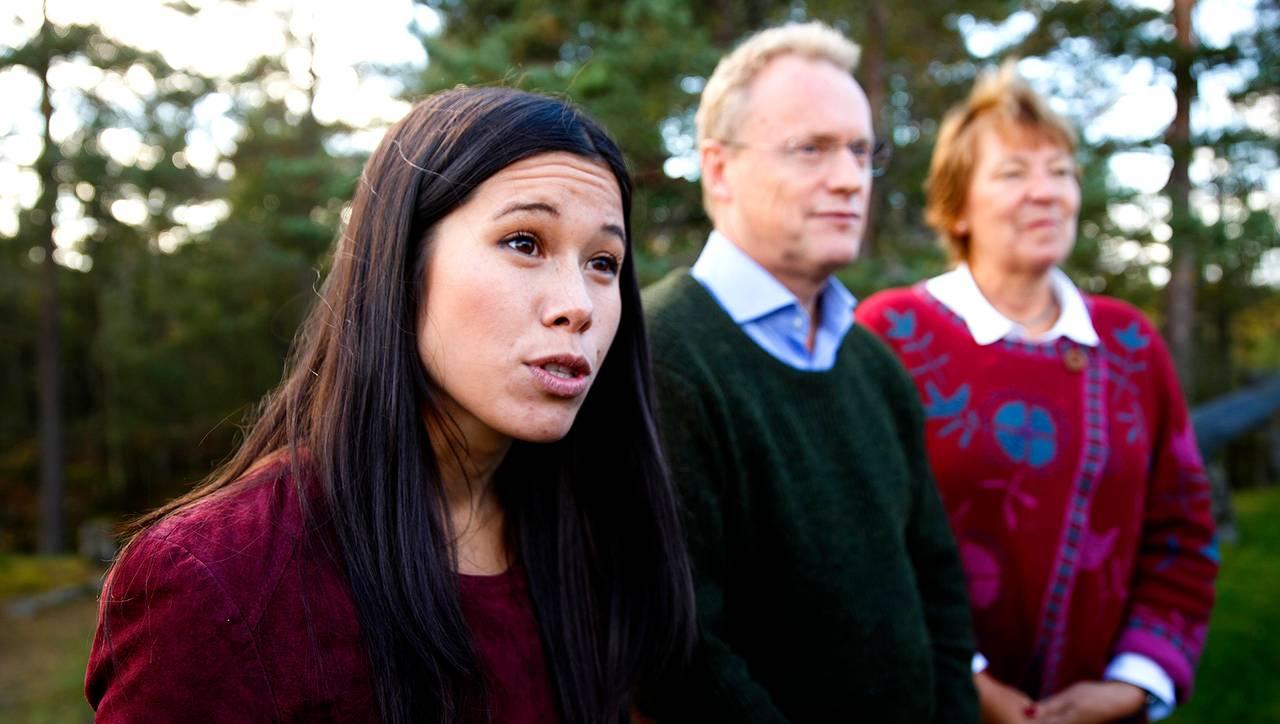 Lan Marie Nguyen Berg (MDG), Raymond Johansen (AP) og Marianne Borgen (SV)