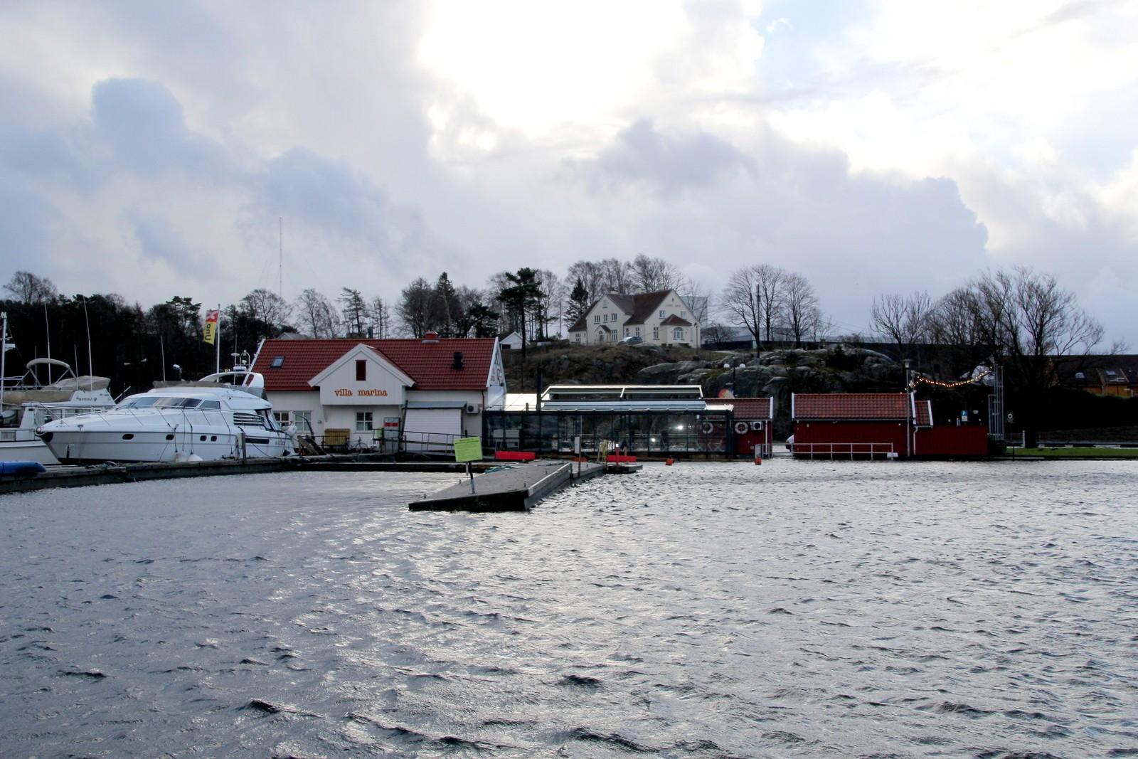 Høyvann i Kristiansand gjestehavn