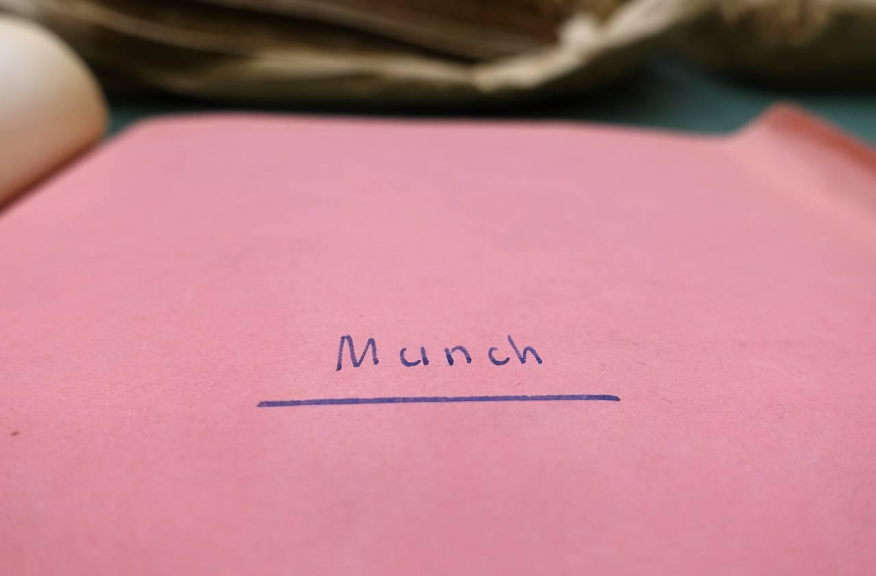 Munch-mappe i Rikskommissariatets arkiv