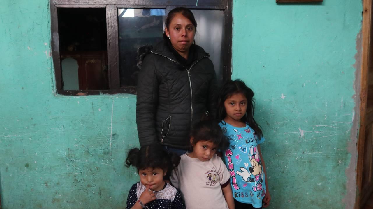 Fernanda er aleine med tre små barn etter at mannen ble skutt og drept.
