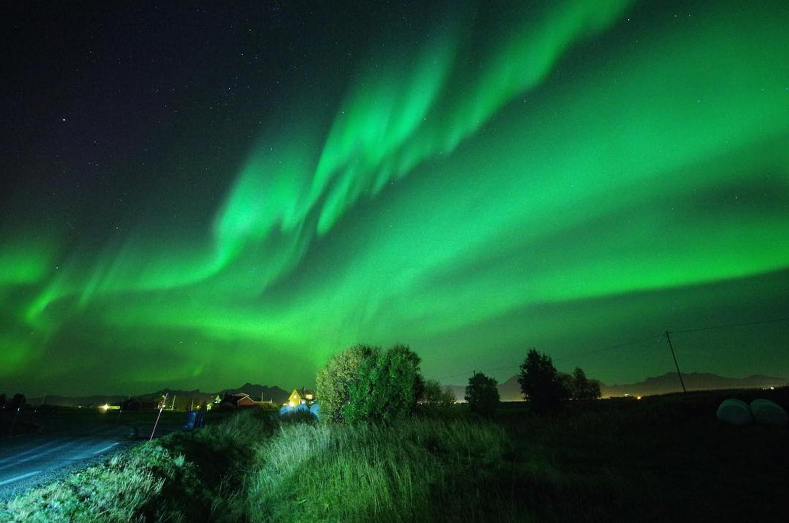 Nordlys over Lofoten.