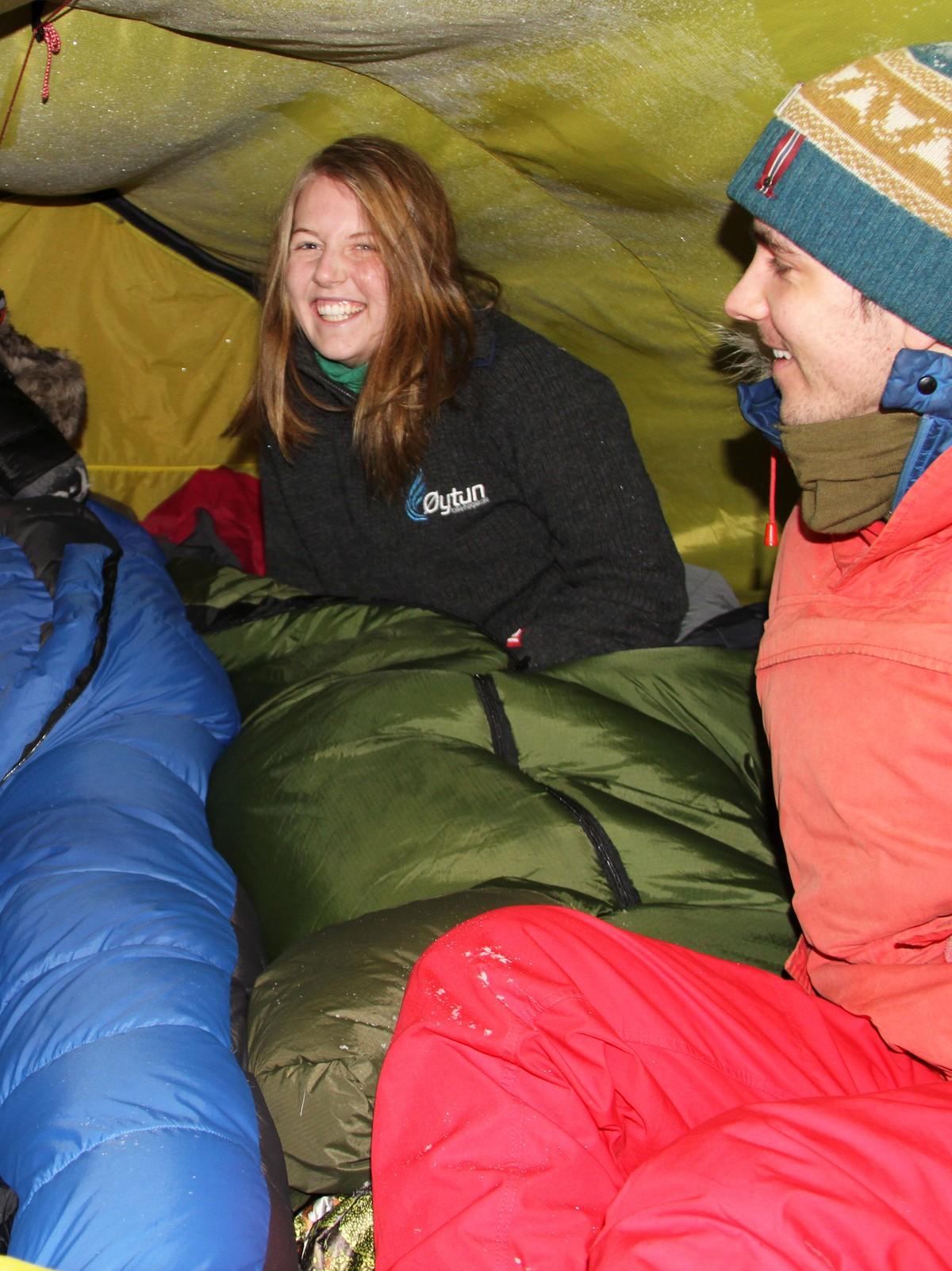 Overnattet i telt i minusgrader – NRK Troms og Finnmark