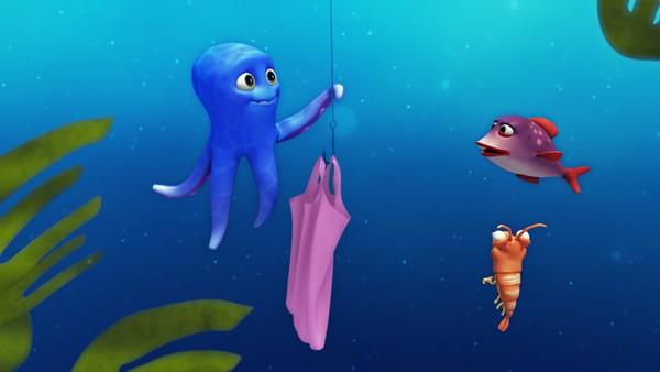 """<span class=""""kicker-title"""">Blekkulf:</span>Plastposer hører ikke hjemme i havet"""
