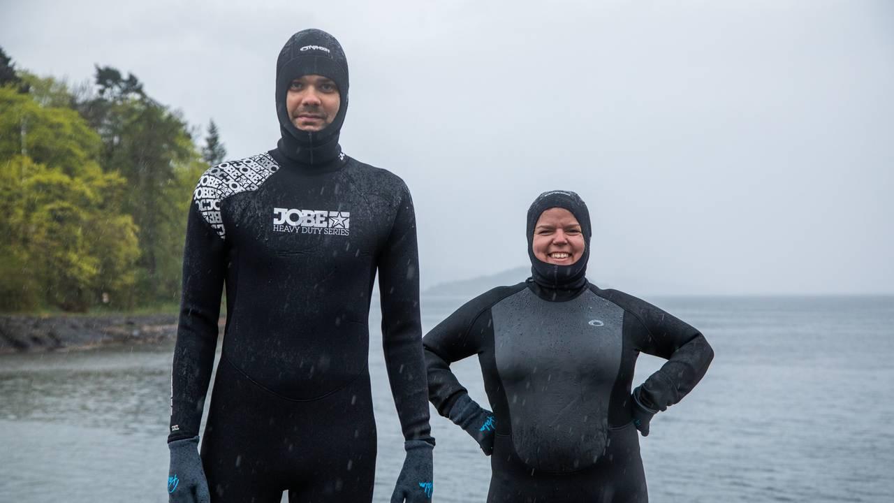 Svømmevenn, Lars Berrum og Else Kåss Furuseth