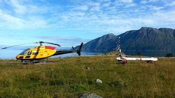 Helikopter brukes til å finne minneralressurser