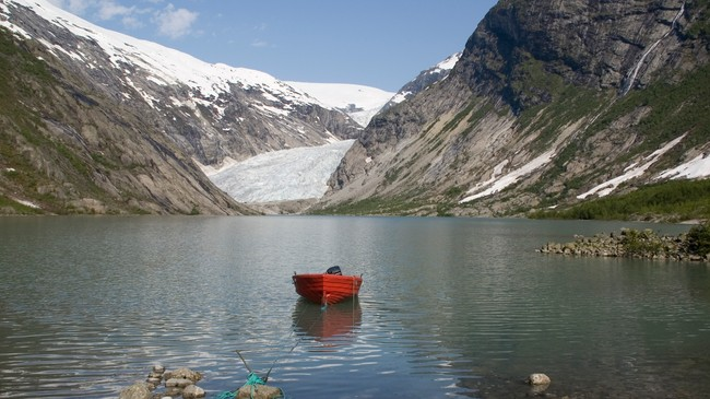 Nigardsbreen i Jostedal er ein del av Jostedalsbreen nasjonalpark. Foto: Merete Husmo Høidal, NRK.