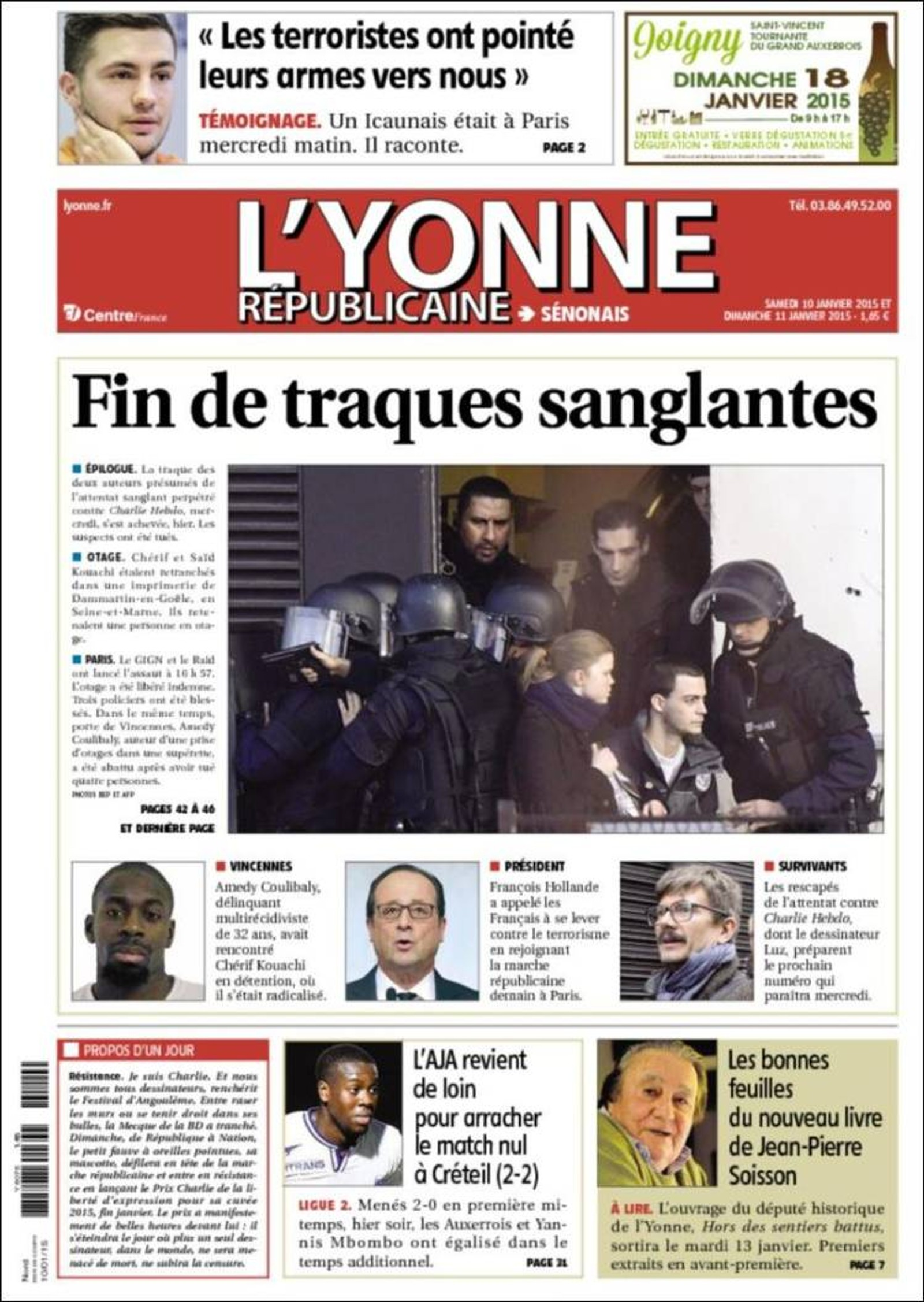 L'Yonne: Slutt på blodig klappjakt.