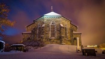 Stille natt ved Sakshaug kirke