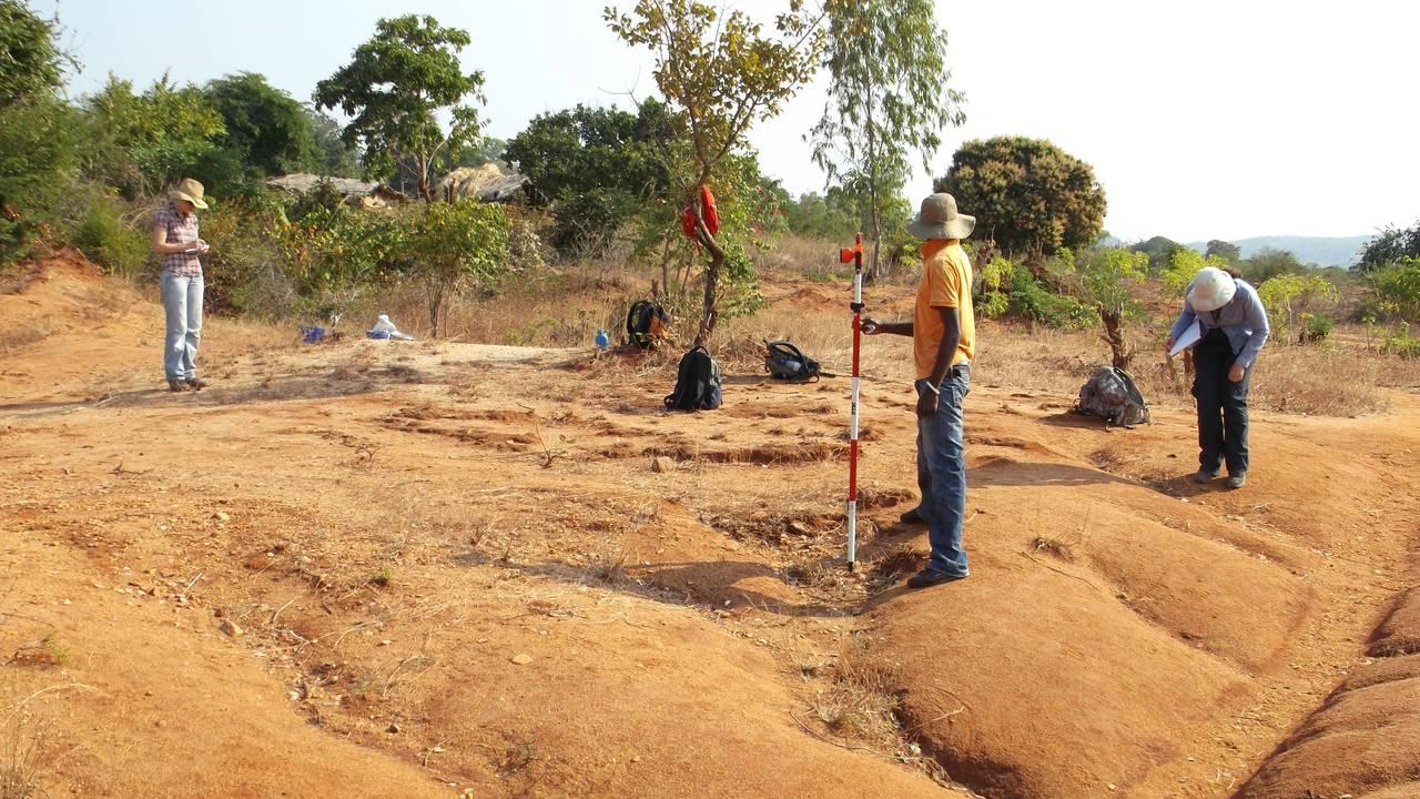 Utgravinger i Karonga, Malawi.