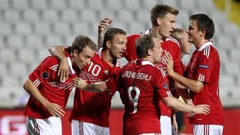 Danmark jubel mot Kypros