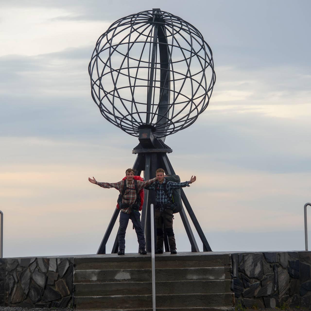 Endelig i mål på Nordkapp