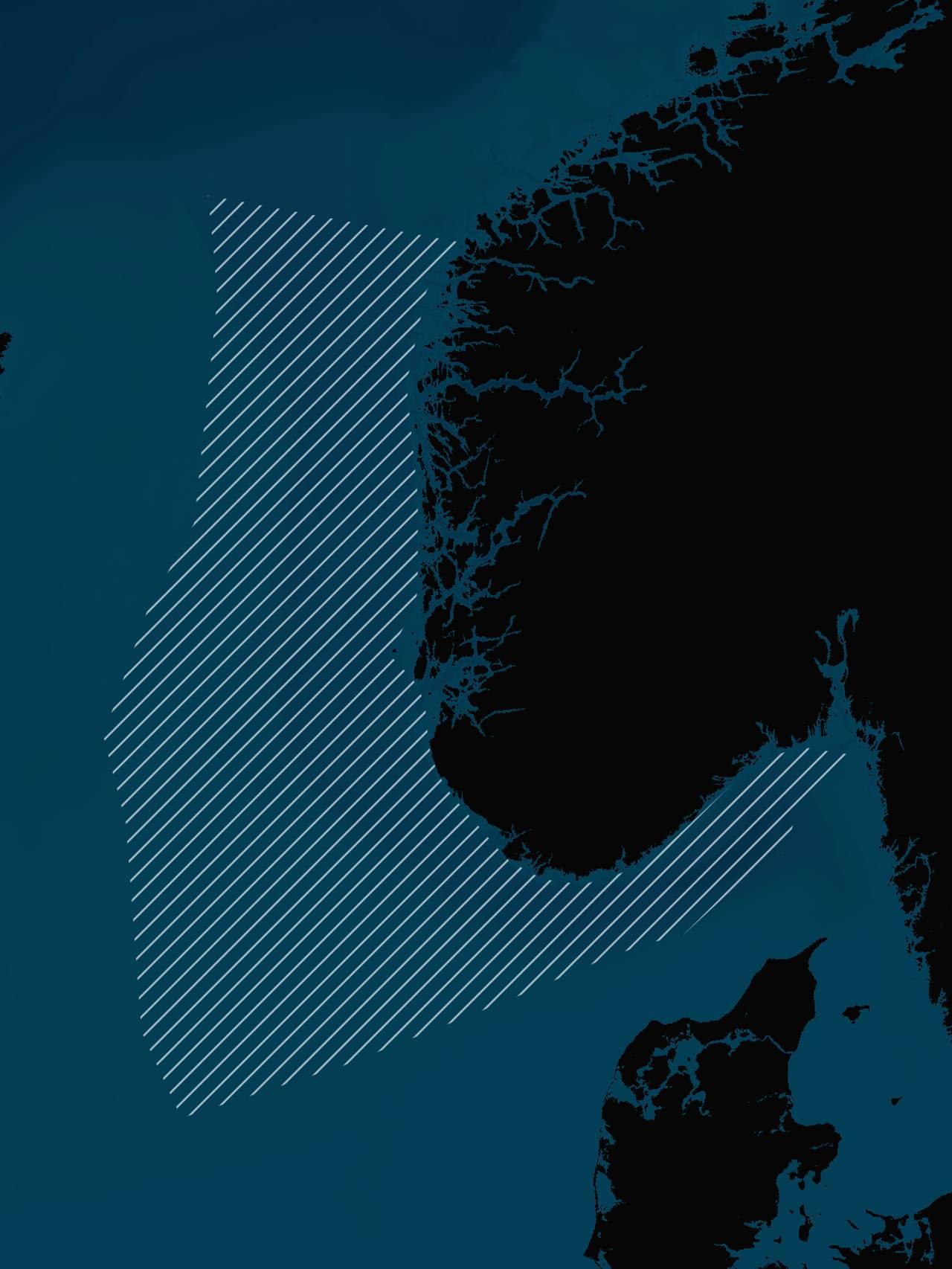 Kartet viser forvaltningsområdet som kalles «Nordsjøen».