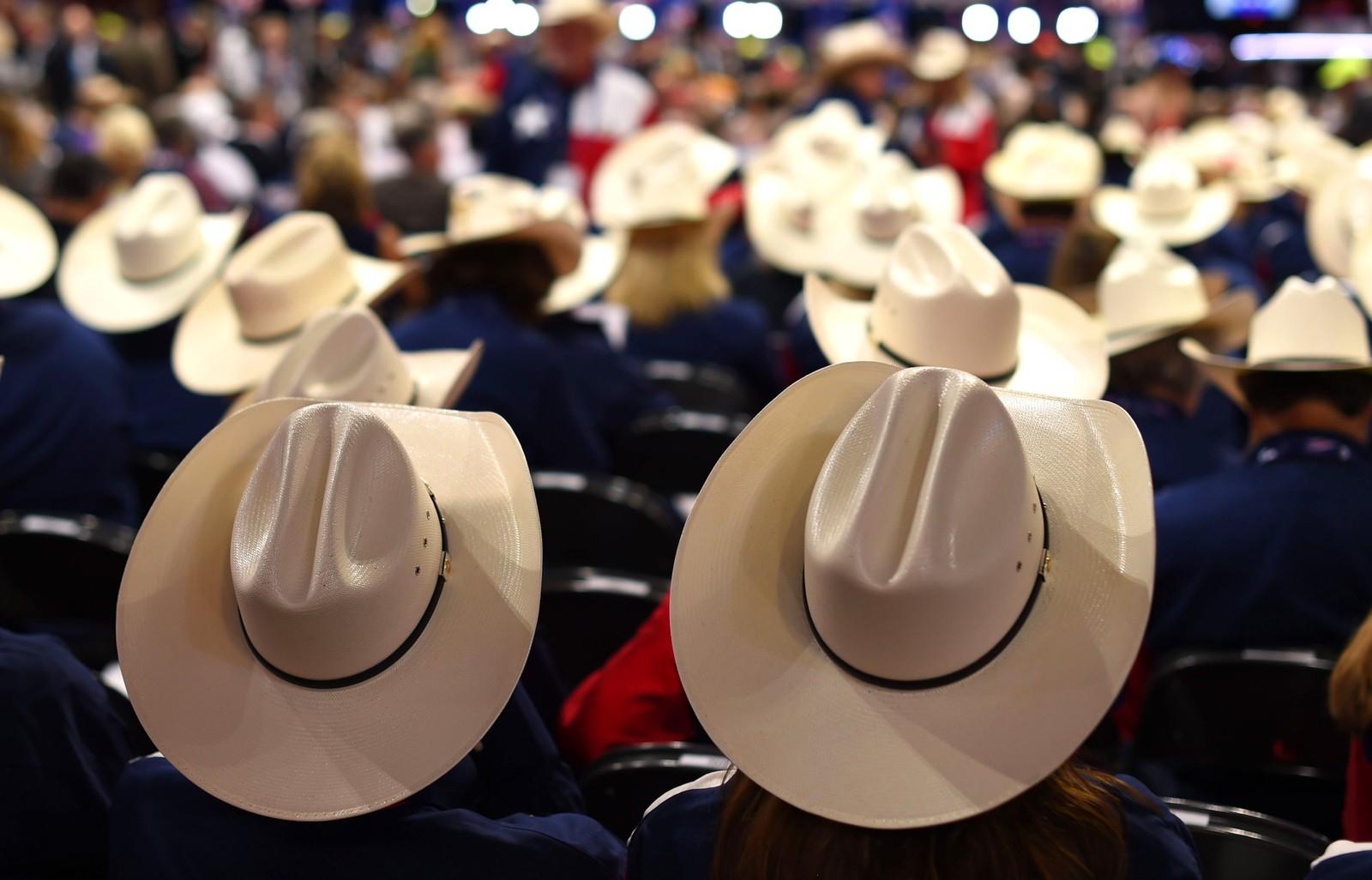 Delegater fra Texas på den republikanske partikongressen den 18. juli. To dager senere ble Donald Trump valgt til partiets presidentkandidat.