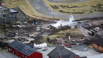 Fra storbrannen i Lærdal 19.januar