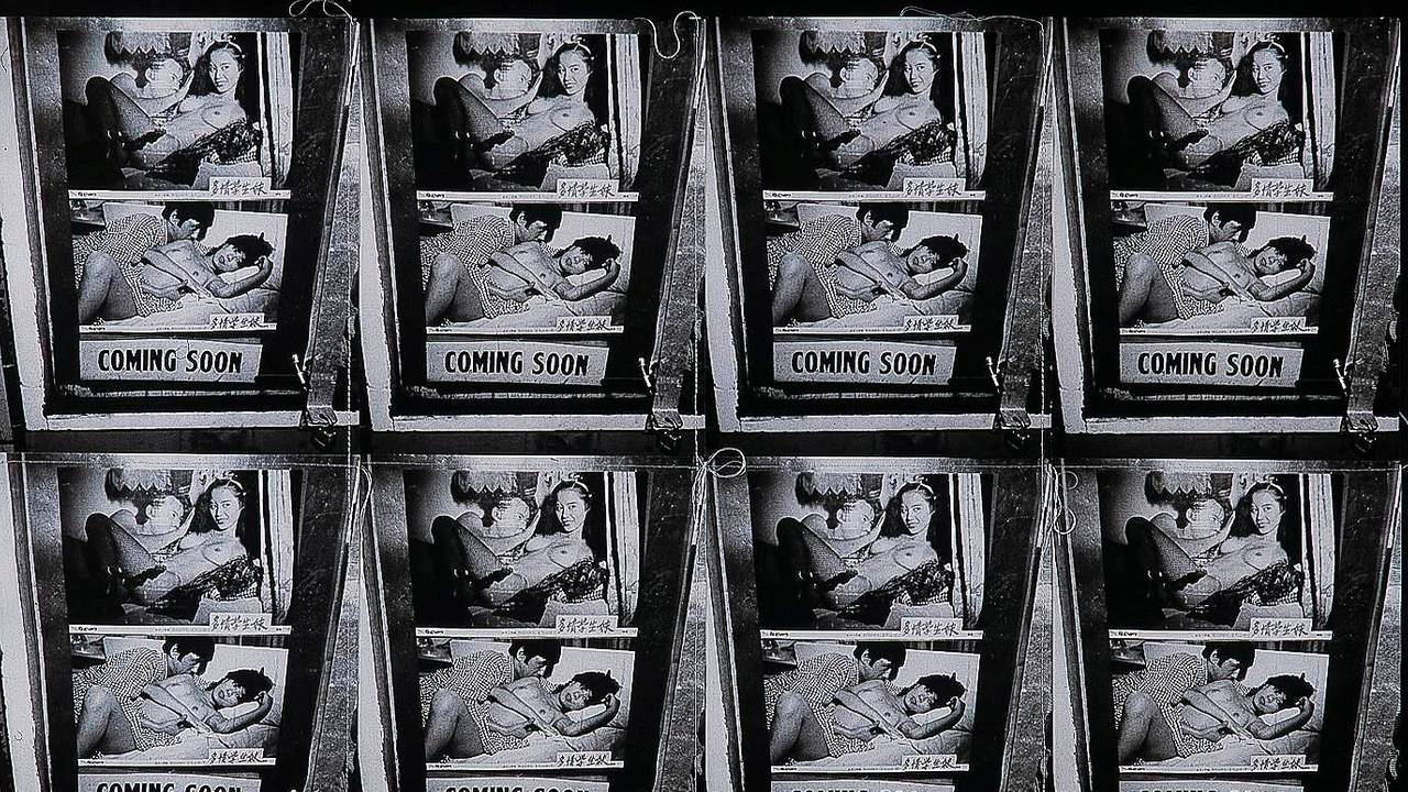 Andy Warhol: «Coming Soon» (Gelatin silver print collage, stitched together. 1976-78)