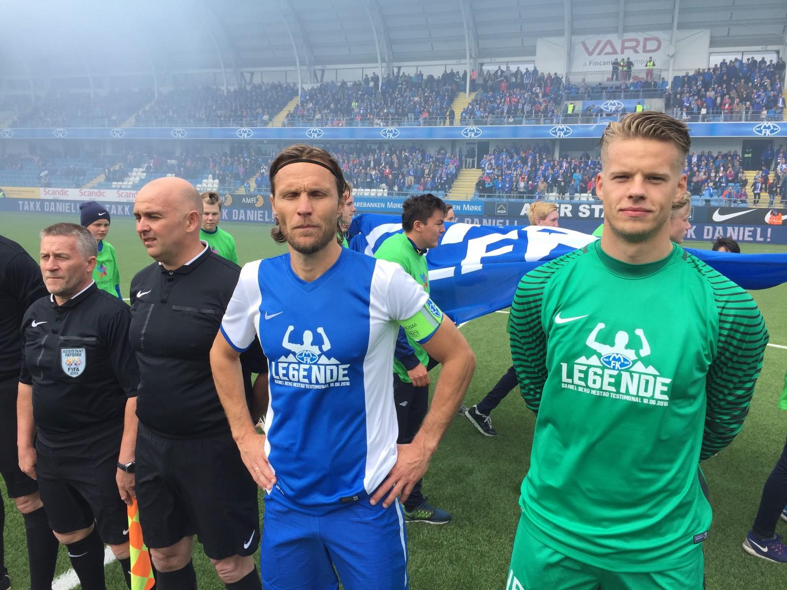 KEEPER: Daniel Berg Hestad har fått med seg Ørjan Nyland som keeper på sitt All-Stars.