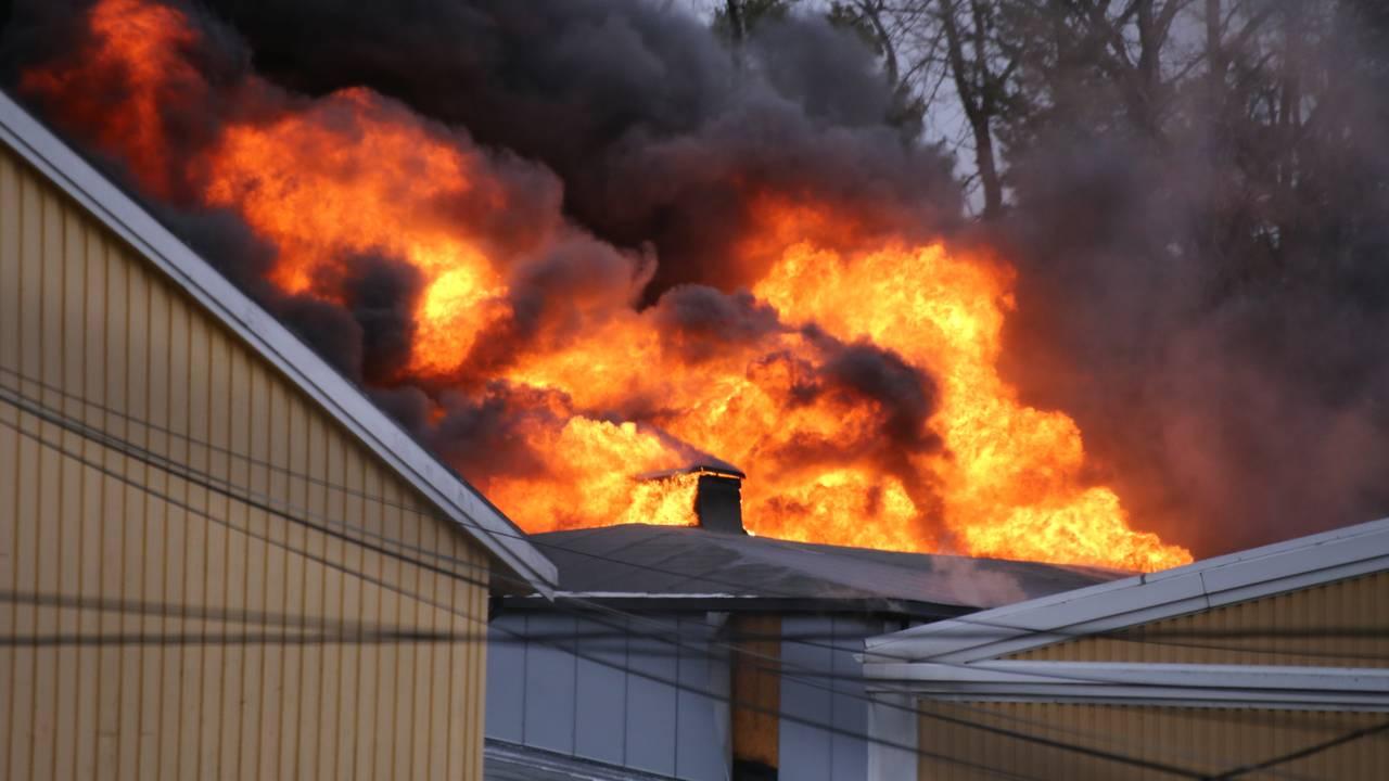 Kraftig brann i Våler ungdomsskole
