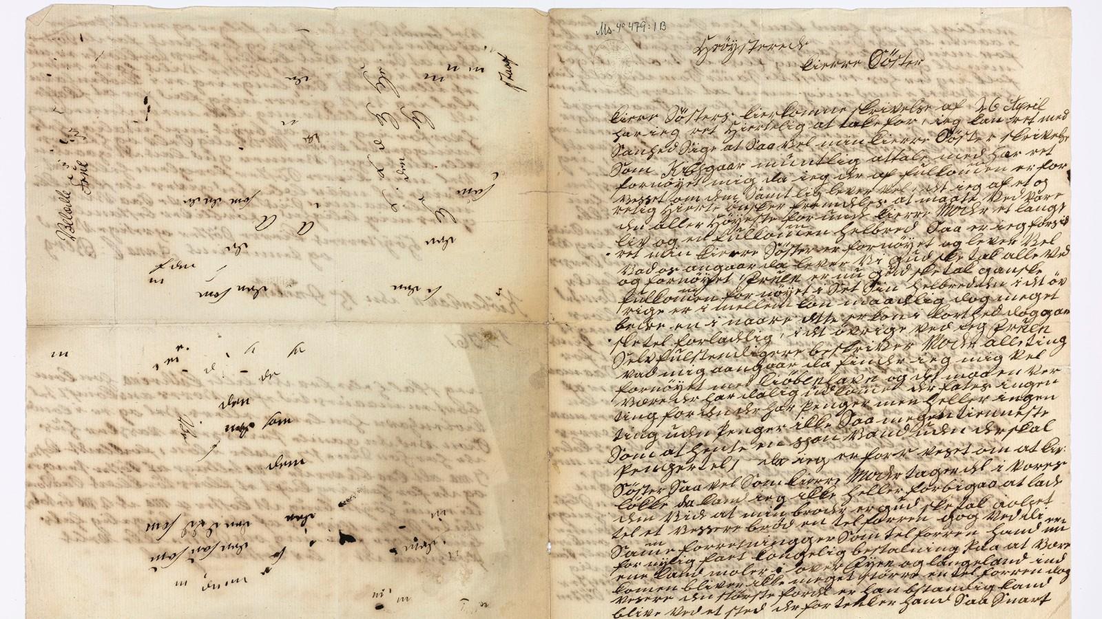 MOTERAPPORT: Dette tettskrevne brevet fra 1776 er skrevet av den norske tjenestejenta Anna C. Berg i København. Rettskrivingen er vaklende, men teksten beskriver presist motebildet i den danske metropolen.