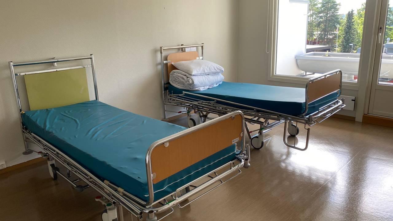 Tre sykehussenger utlånt til Vestli isolasjonsenhet.