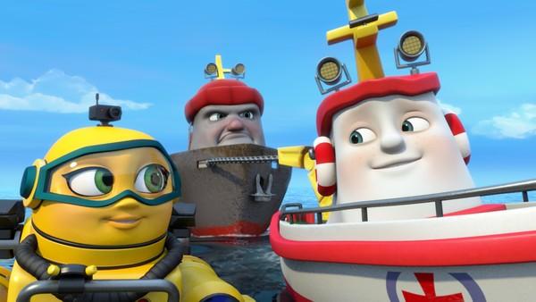 Norsk animasjonsserie. Motortrøbbel. Redningsskøyta Elias bor i Lunvik, og sammen med sine gode venner Helinor og Duppe redder de båter i alle mulige situasjoner.