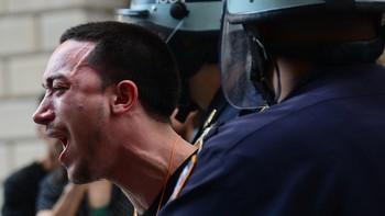 Occupy Wall Street-demonstrant arresteres av politiet i New York 17. september 2012