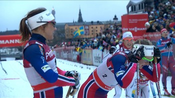 Maiken Caspersen Falla har stilt i 11 v-cup konkurranser i år. Hun har vunnet 5 av de, nå sist i sprinten i Stockholm.