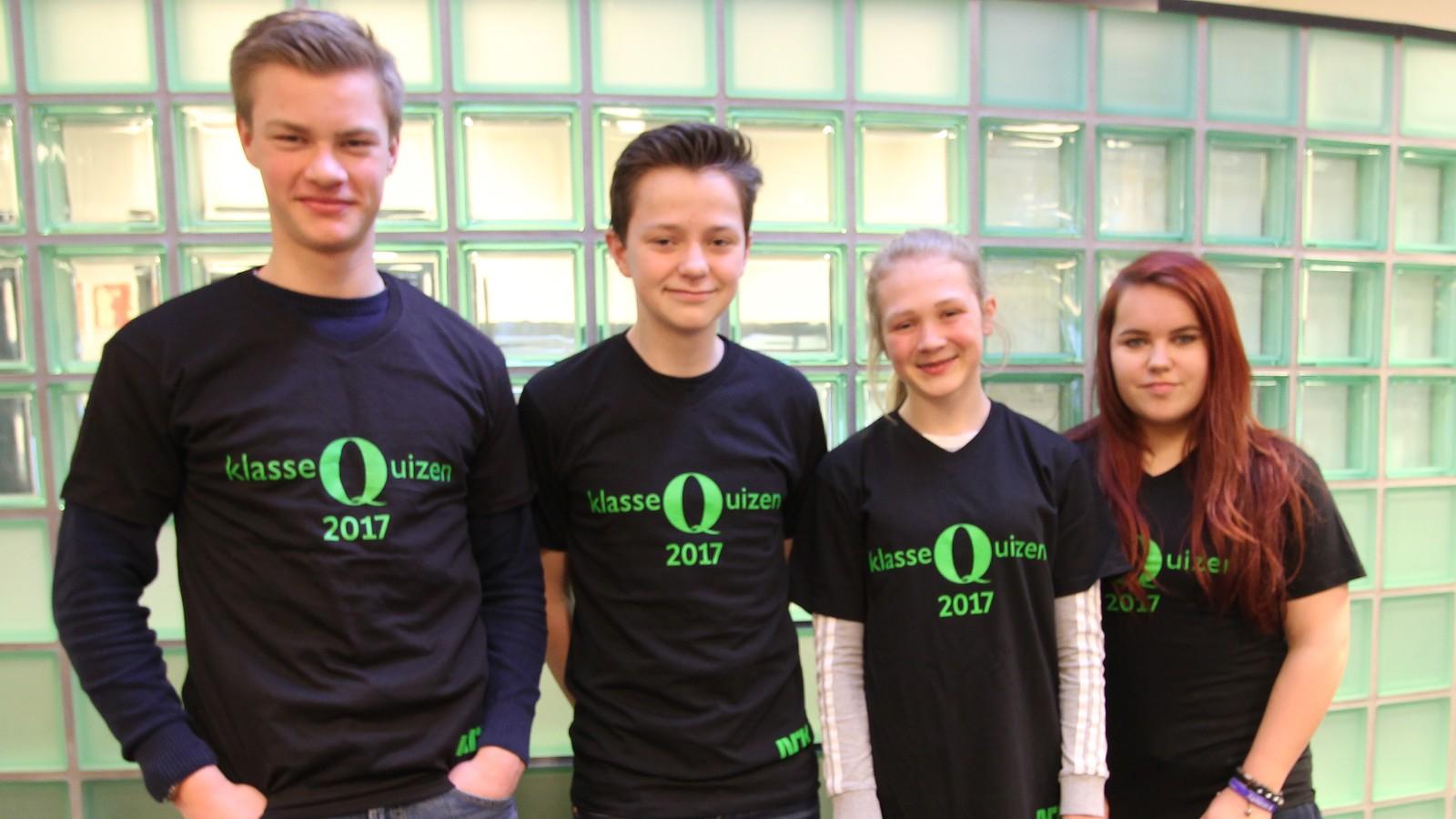 Høyland ungdomsskole fikk 11 poeng i Klassequizen. På laget var Harald Egeland, Jakob Flaten, Ingrid Haga og Tiril Aasen (vara).