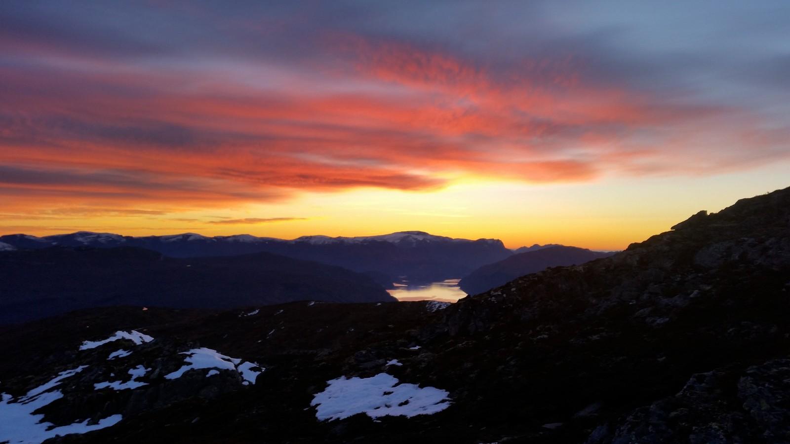 Solnedgang på Bergsetnakken.