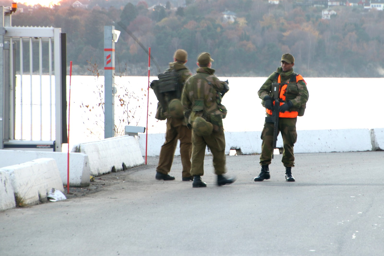 HV-soldater i Kristiansand havn