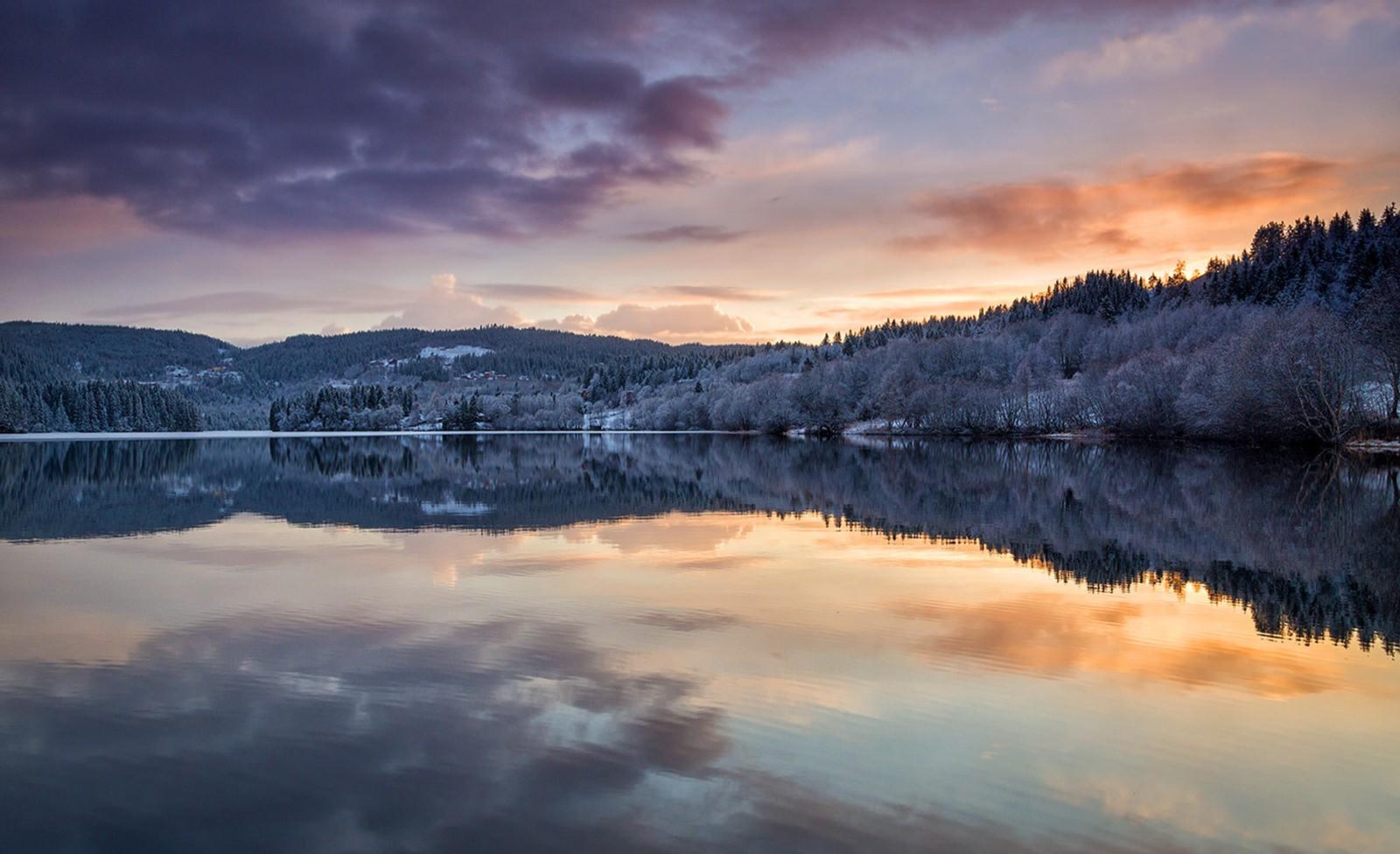 Solnedgang, Litlvatnet i Trondheim