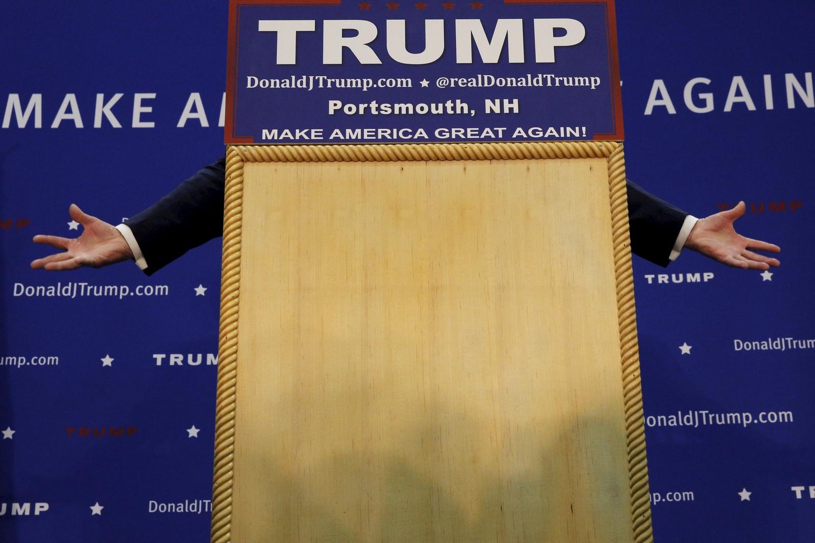 Donald Trump mistet ikke hodet selv om han tapte første runde av primærvalget , og er også klar for supertirsdagen.