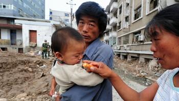 Ofre for jordskredet i Ganzu i Kina