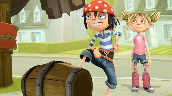 Endelig skjer det noe nytt for Matilda som bor i Kjedestrand. Den noe uvanlige piratfamilen Sjøsterk flytter inn. Fransk animasjonsserie.