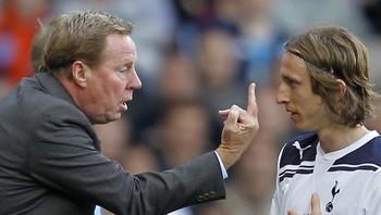 Harry Redknapp og Luka Modric