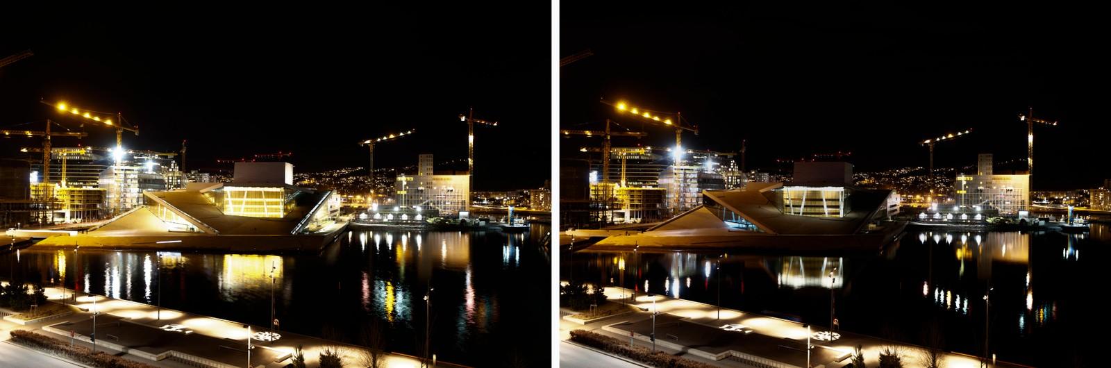 Operaen i Oslo markerte Earth Hour 2017 med å slukke lyset i en time lørdag kveld. Earth Hour er en verdensomspennende symbolsk markering mot klimaendringene.