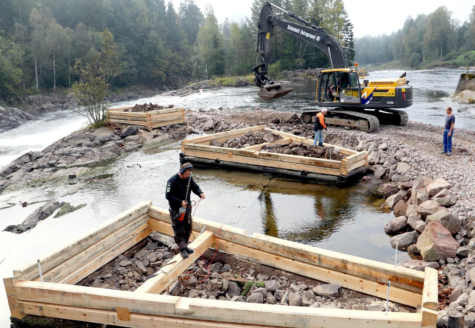 MALMFURU: De nye tømmerkarene i Kjærra-anlegget er malmfuru fra Nore og Uvdal, en hardfør tresort som tåler det aller meste.