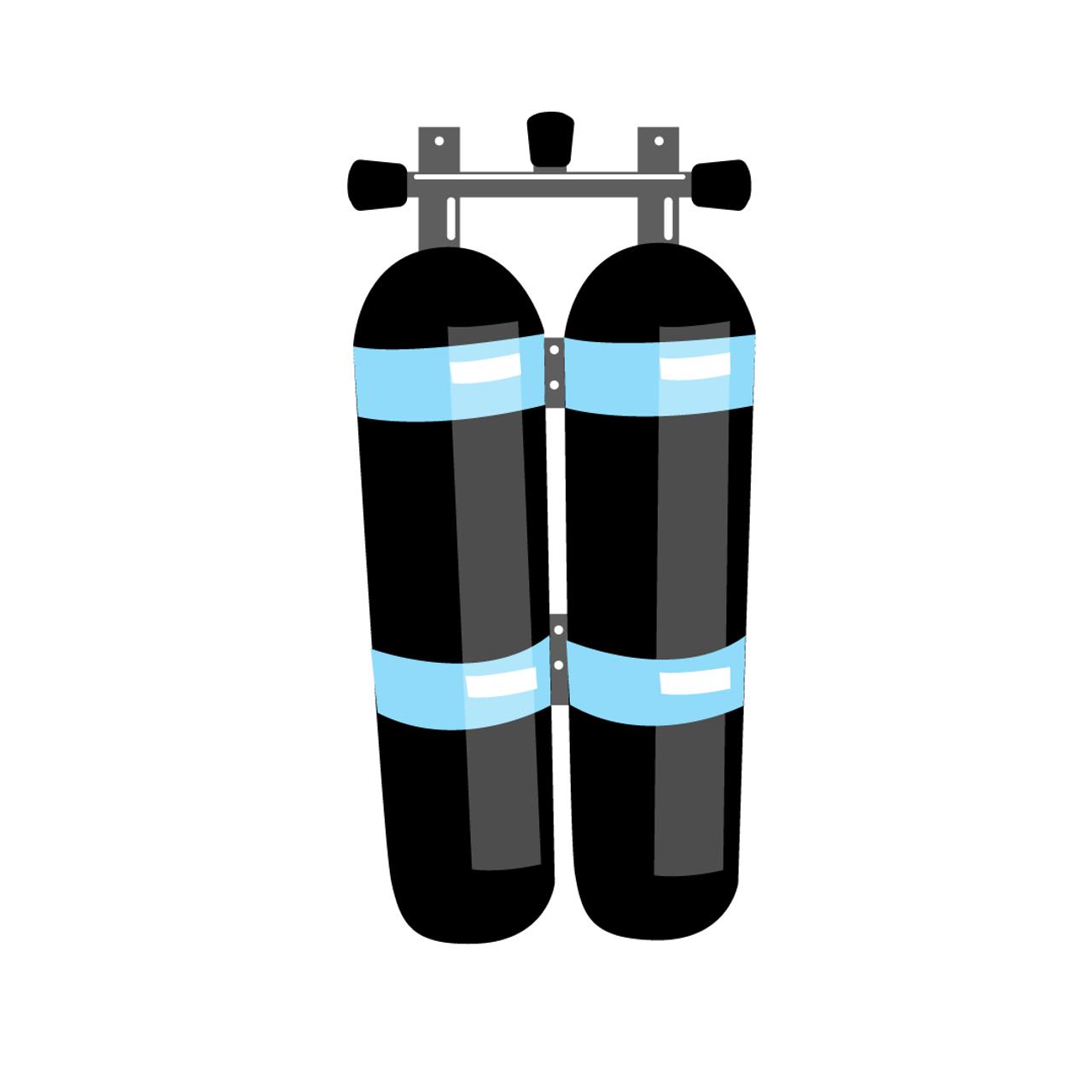 Flaskesett til dykking