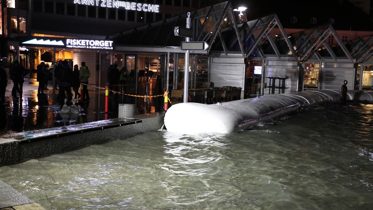 Flaumvernpølsa til Stavanger kommune har vist seg effektiv ved stormflod, slik som måndag og tysdag denne veka.