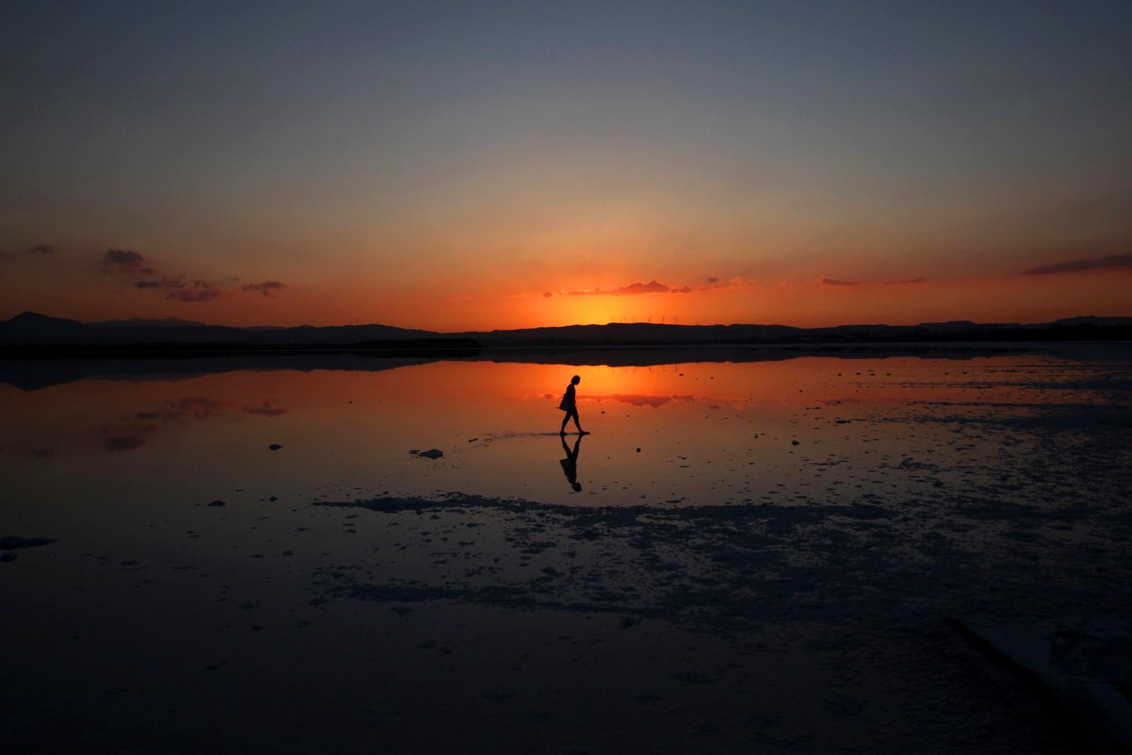 En helt ålreit kveld i Larnaca på Kypros.