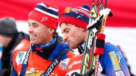 Landslagsjef Vidar Løfshus og Petter Northug