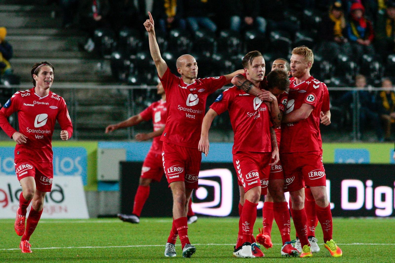 2016: Brann vant 2-1 over Start og sikret med det medalje i Eliteserien 2016 forrige søndag Foto: Tor Erik Schrøder / NTB scanpix