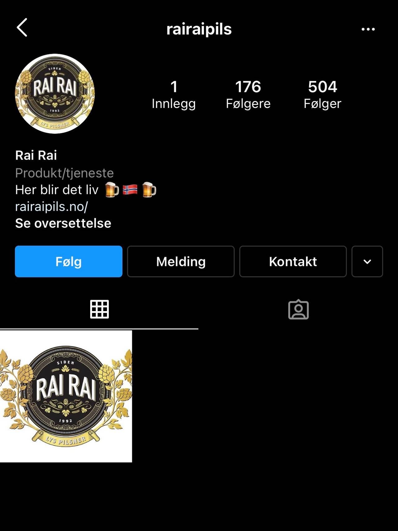 Slik ser Instagram-flyten til rairaipils ut nå.