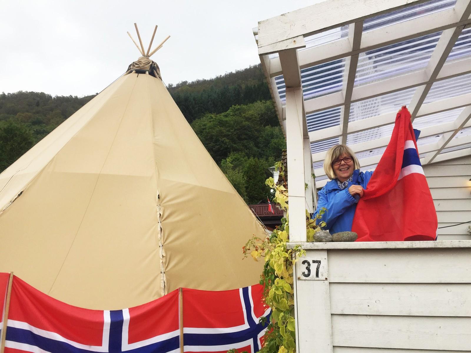Inger Skålevik Olsen kunne ikkje sei nei då ho fekk spørsmål om å låne ut hagen sin.